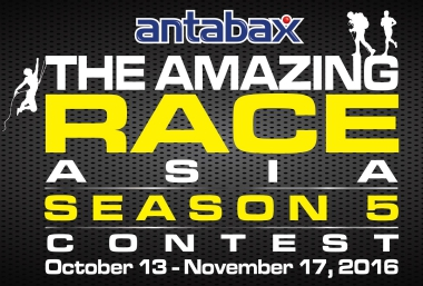 ANTABAX OFFERS A MONEY-CAN'T-BUY EXPERIENCE GRAND PRIZE FOR FOUR – SEATS AT THE AMAZING RACE ASIA FINALE PARTY!