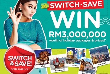 WIN RM3 MILLION WORTH OF PRIZES FROM WATSONS BRAND!