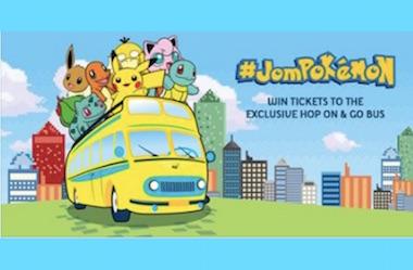 赢取 #JOMPOKEMON 车票,一起去抓神奇宝贝!