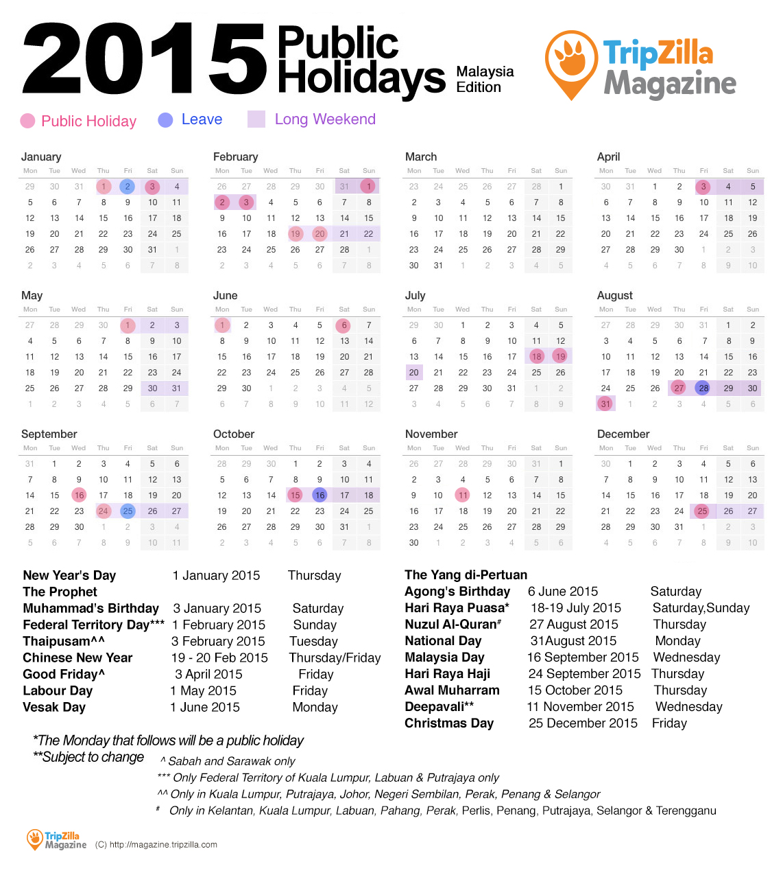 Calendar 2015 printable with public holidays www for 2015 calendar template with canadian holidays