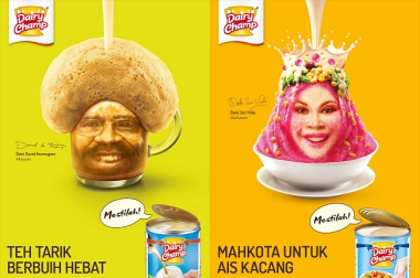 "WHAT'S ABOUT THE ""STUNNING"" VISUALS OF THESE DAIRY CHAMP ADS?"