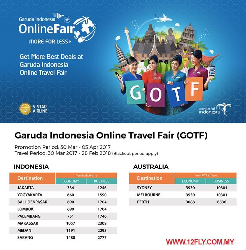À�garuda Indonesia】online Travel Fair Exclusive Promotion