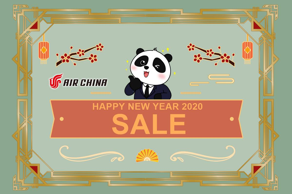 ✈【AIR CHINA】2020 NEW YEAR SALE!