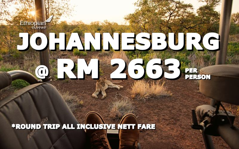 Fly Johannesburg, South Africa @ RM 2663 round trip by