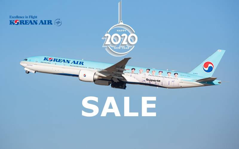 ✈【KOREAN AIR】2020 NEW YEAR SALE!