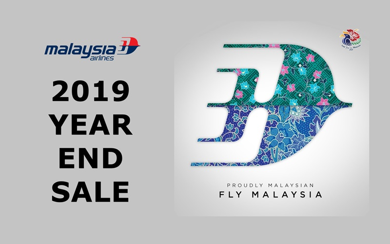 ✈【MALAYSIA AIRLINES】2019 YEAR-END SALE!