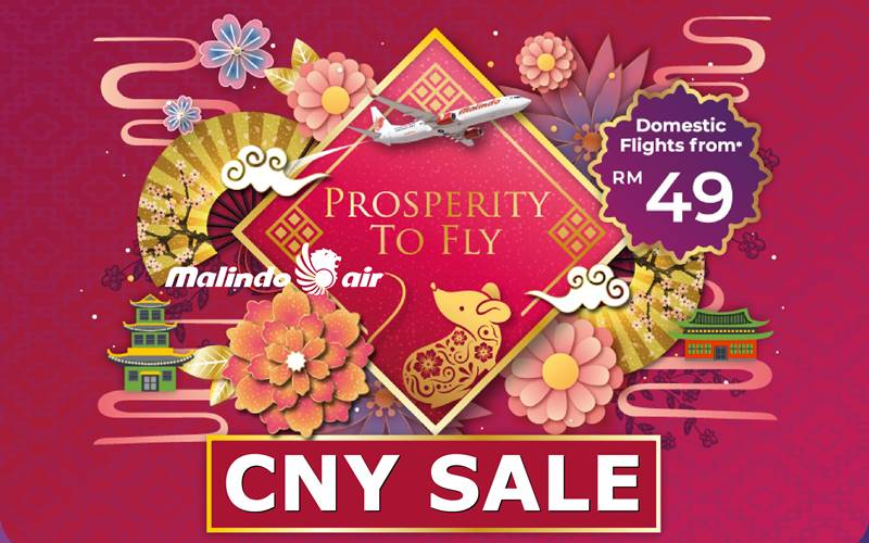 ✈【MALINDO AIR】2020 CNY SALE!
