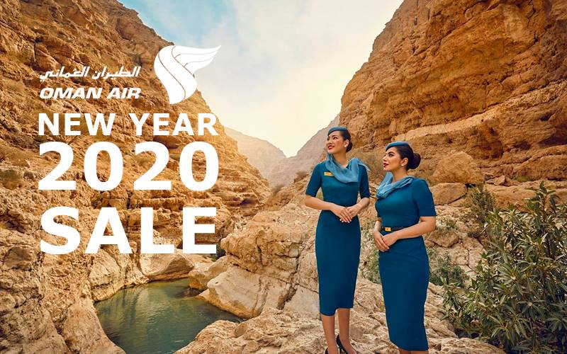 ✈【OMAN AIR】2020 NEW YEAR SALE!