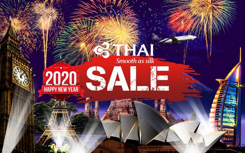 ✈【THAI AIRWAYS】2020 NEW YEAR SALE!
