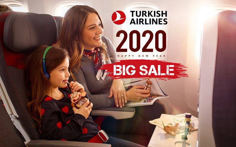 ✈【TURKISH AIRLINES】2020 NEW YEAR SALE!