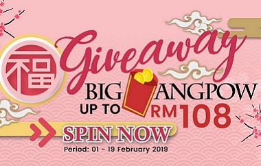 ANGPOW UP TO RM108 FOR YOU TO USE TO BOOK YOUR TRIPS!