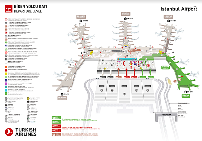 Istambul Airport Map Turkish Airlines   Istanbul (New) Airport Terminal Map