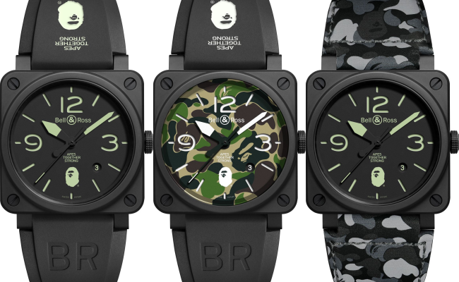 Bell & Ross And Bape's Universe Meet For The 1st Time!