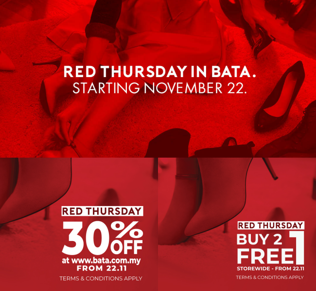 Bata Presents Red Thursday – A Day Dedicated To Shoe Shopping