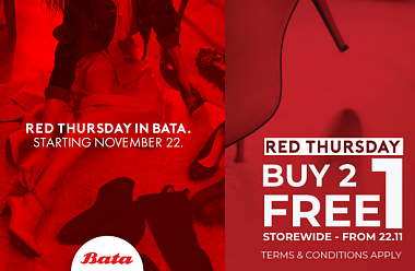 BATA PRESENTS RED THURSDAY – A DAY DEDICATED TO SHOE SHOPPING!