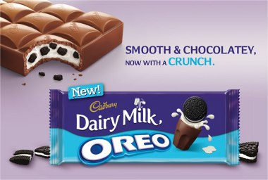 YOU CAN NOW FIND OREOS IN A BAR OF MILK CHOCOLATE!