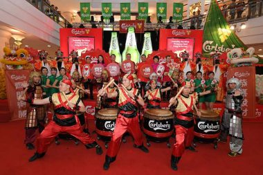 CARLSBERG WISHES YOU PROBABLY THE MOST VICTORIOUS YEAR CELEBRATION