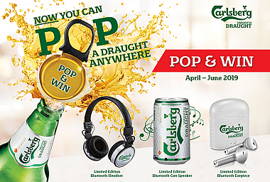 POP! AND WIN FABULOUS PRIZES WITH CARLSBERG SMOOTH DRAUGHT PROMOTION
