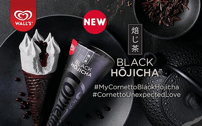 DECADENT CORNETTO BLACK HOJICHA™ SET TO TANTALISE MALAYSIAN TASTEBUDS