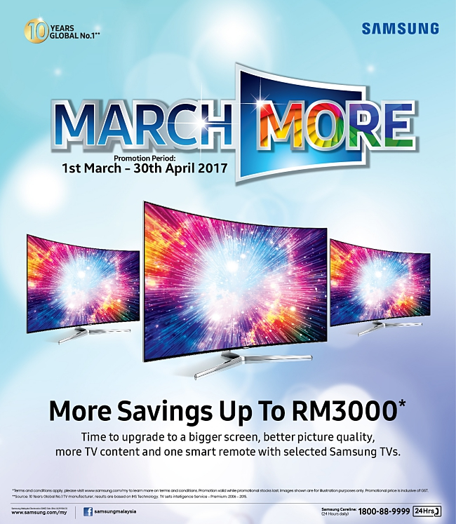 Save Up To RM3,000 On A Samsung TV!