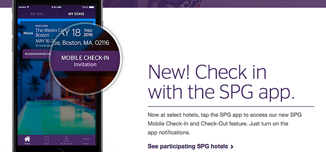 Starwood Loyalty Members Can Now Check-In To Their Hotel Through A